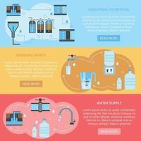 ilustração vetorial de banners planos de limpeza de água vetor
