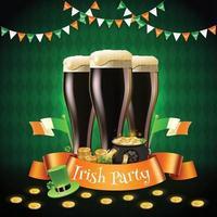 composição da festa irlandesa de saint patricks vetor