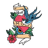 Tatuagem De Amor De Mãe vetor