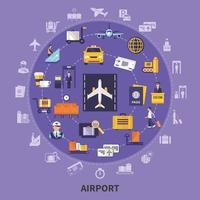 conceito de apartamento de aeroporto vetor