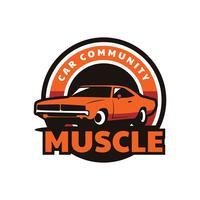 Emblema do carro do músculo vetor