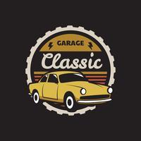 Emblema de carro clássico vetor