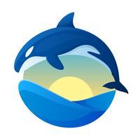 Vetores de baleias assassinas pendentes