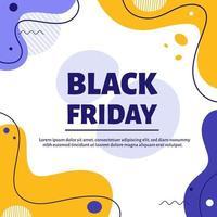 banner preto sexta-feira. ilustração vetorial em estilo simples. vetor