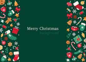 fundo de feliz natal. coleção de doces e balas de Natal. ilustração vetorial. vetor
