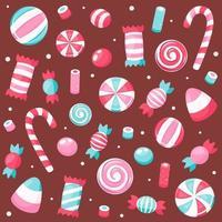 doces e doces do dia dos namorados. ilustração vetorial. vetor