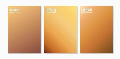 conjunto de fundo abstrato gradiente marrom. vetor