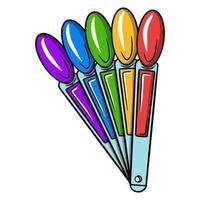 paleta com vernizes. paleta para escolher uma cor para manicure ou pedicure. necessário para o mestre. vetor