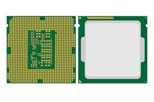 ilustração simples do ícone de chip de cpu de computador eletrônico digital vetor