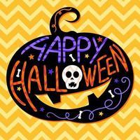 cartão de halloween para festa e venda com abóbora vetor