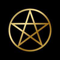 wicca pentagrama símbolo isolado estrela oculta vetor
