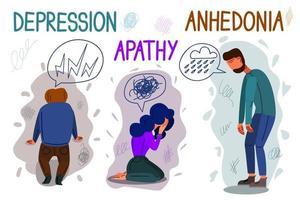 ilustração em vetor conceitual depressão