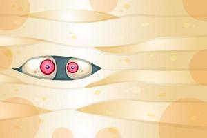 ilustração em vetor plana olhos assustadores