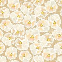 padrão floral sem emenda. fundo de amor-perfeito da flor. textura sem costura floral com flores. florescer papel de parede com azulejos vetor