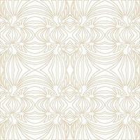 padrão sem emenda de renda floral. florescer ornamento de telha elegante fundo de fractal de folha de palmeira. textura retro floreio geométrica abstrata. vetor
