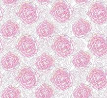 padrão ornamental floral sem emenda. textura de flor de peônia de flor branca suave. fundo abstrato florescer jardim florido vetor