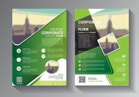 design de brochura, conjunto de layout moderno de capa vetor