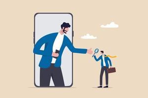 kyc, conheça o processo do seu cliente para identificar o usuário no conceito de banco on-line, negociação de criptomoeda ou transação cibernética vetor