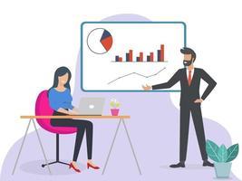o conceito de treinamento de pessoal, reunião, negócios, trabalho em equipe vetor