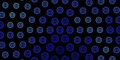 modelo de vetor azul escuro com sinais esotéricos.