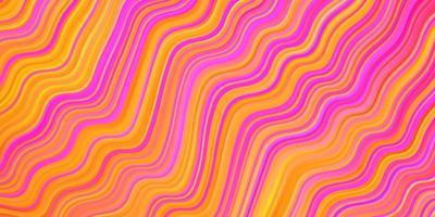 layout de vetor multicolor de luz com linhas irônicas.