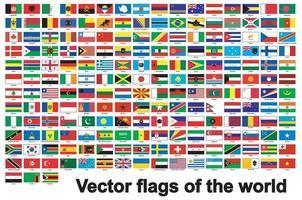 bandeiras do mundo isoladas em fundo branco, ilustração vetorial eps.10 vetor
