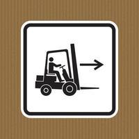 sinal de símbolo direito de ponto de empilhadeira isolar em fundo branco, ilustração vetorial eps.10 vetor
