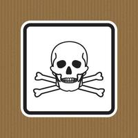 Sinal de símbolo de material tóxico isolado em fundo branco, ilustração vetorial eps.10 vetor