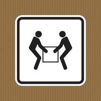 use sinal de símbolo de elevador de duas pessoas, isolado no fundo branco, ilustração vetorial eps.10 vetor