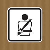 ícone de ppe. usando um sinal de símbolo de cinto de segurança isolado no fundo branco, ilustração vetorial eps.10 vetor