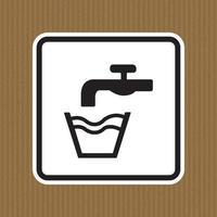 não beber água símbolo sinal isolado em fundo branco, ilustração vetorial eps.10 vetor