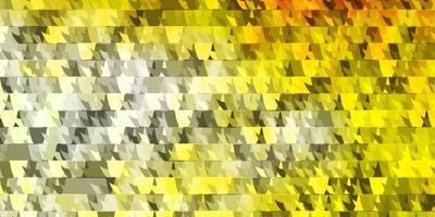 padrão de vetor laranja claro com linhas, triângulos.