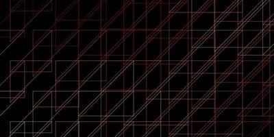 layout de vetor de laranja escuro com linhas.