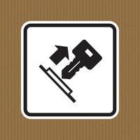puxe o sinal do símbolo da chave isolado no fundo branco, ilustração vetorial eps.10 vetor