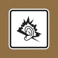 sinal de símbolo de ruído isolado em fundo branco, ilustração vetorial vetor