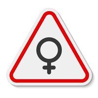 nenhum símbolo feminino canta isolado no fundo branco, ilustração vetorial vetor