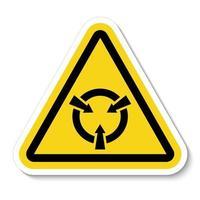 sinal de símbolo esd de dispositivo eletrostático sensível isolado em fundo branco, ilustração vetorial eps.10 vetor