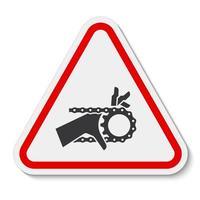 sinal de símbolo de unidade de corrente de emaranhamento de mão isolado em fundo branco, ilustração vetorial vetor