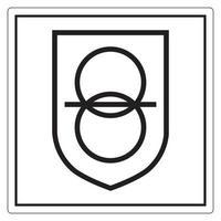 sinal de símbolo de transformador de isolamento de segurança isolado em fundo branco, ilustração vetorial eps.10 vetor