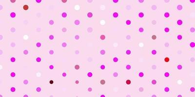 padrão de vetor roxo, rosa claro com esferas.