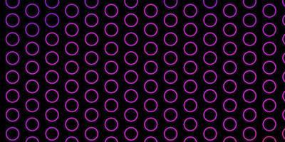 pano de fundo vector roxo, rosa escuro com círculos.