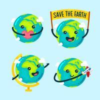 Ilustração bonito dos desenhos animados do globo vetor