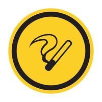 Sinal de símbolo de proibido fumar isolado em fundo branco, ilustração vetorial vetor