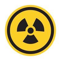 sinal de símbolo de perigo de radiação isolado em fundo branco, ilustração vetorial eps.10 vetor