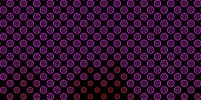 modelo de vetor rosa escuro com sinais esotéricos.