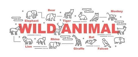 banner de vetor animal