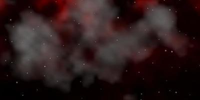 textura vector vermelho escuro com belas estrelas.