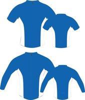 tops de ciclismo e maquetes de jaquetas vetor
