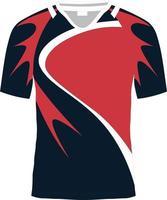 maquetes sublimadas de camisas de rúgbi vetor