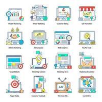 publicidade, mídia e tecnologia online vetor
